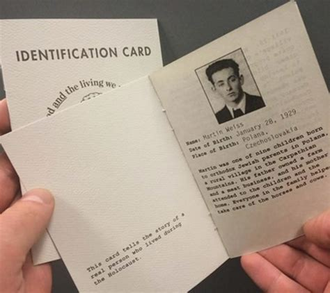 printable holocaust id cards us holocaust museum on twitter quot dyk 15