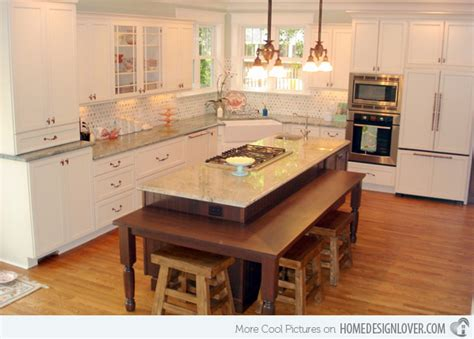 Kitchen Island Table Design Ideas 15 Beautiful Kitchen Island With Table Attached Beautiful Kitchen Kitchens And Kitchen Island