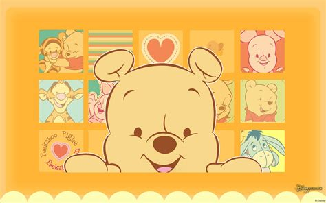 wallpaper cartoon baby baby winnie the pooh wallpaper wallpapersafari