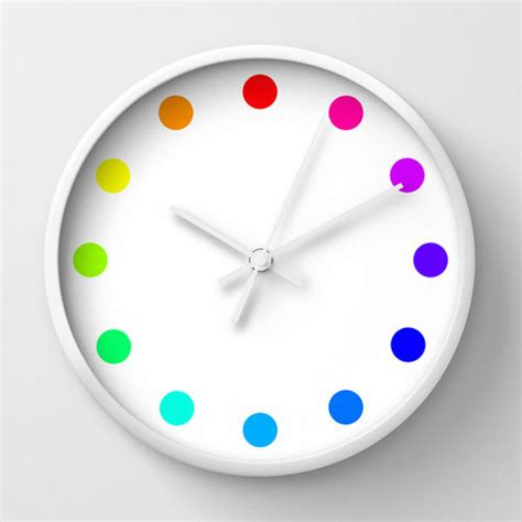 colorful clocks 8 creative wall clock designs from society6 design milk