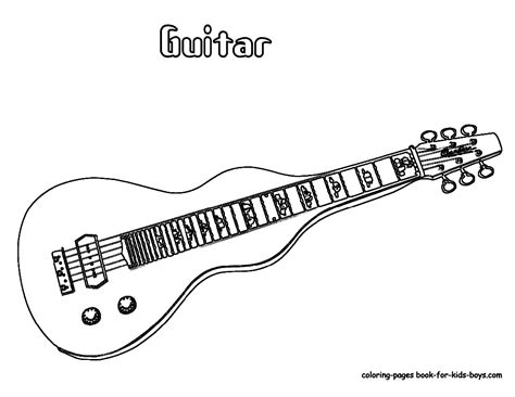 free coloring pages of electric guitar
