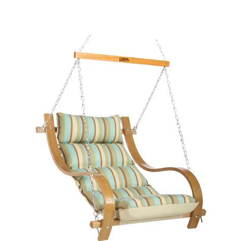 single hammock swing spring bay stripe single hammock swing with oak arms