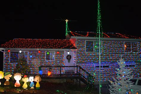 lighting up the night with neighborhood lights and shows