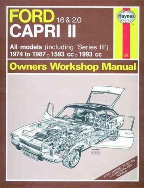 auto manual repair 1987 ford courier engine control ford capri series 2 series 3 1974 1987 haynes service repair manual sagin workshop car manuals