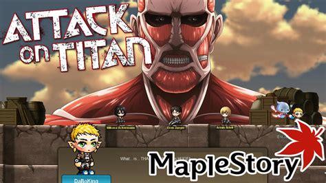 attack on titan update attack on titan maplestory gms update