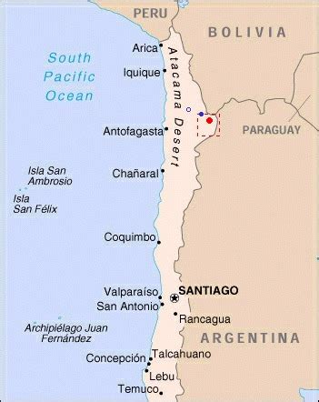 atacama desert map atacama chile map