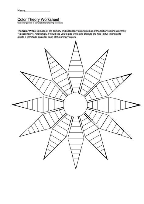 Color Wheel Worksheet by Color Wheel Worksheet Worksheets And Color Wheels On