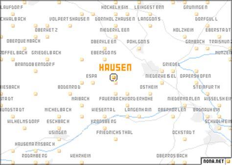 hausen hessen hausen germany map nona net