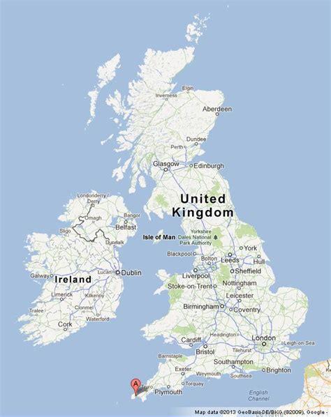 penzance on uk map world easy guides