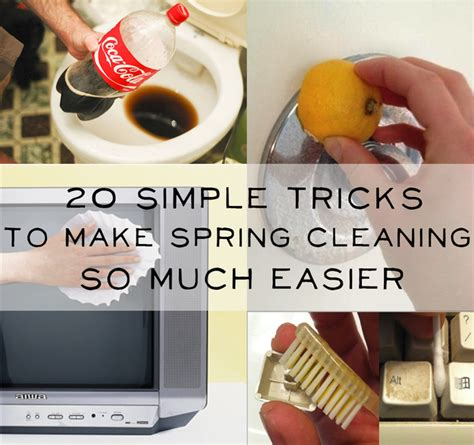 spring cleaning tips and tricks 20 simple tricks to make spring cleaning so much easier