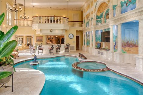 indoor outdoor pool no luxury mansion is complete without a private indoor