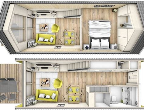 one floor tiny house though not originally created as a home on wheels this