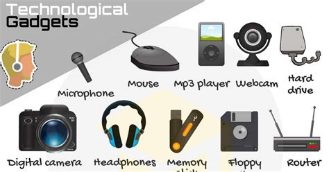 technology vocabulary list  tech gadgets  pictures