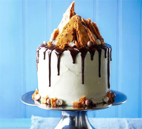 Birthday Decoration At Home For Kids by Malted Chocolate Drizzle Amp Honeycomb Cake Recipe Bbc