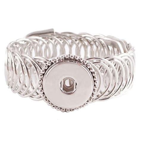 fits snaps snap coil bracelet interchangeable