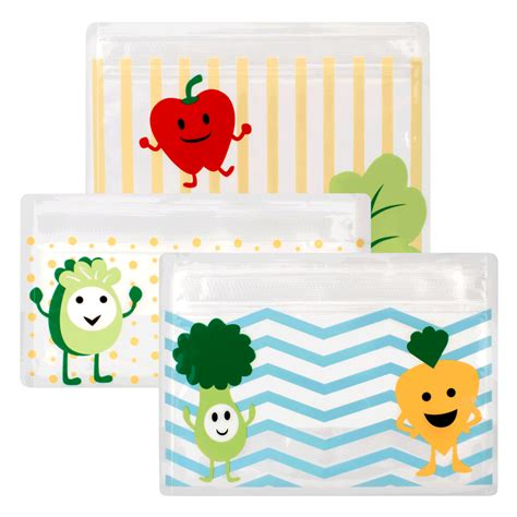Tummy Grumbles Reusable Snack Bags 3 Pack Ac067 dr brown tummy grumbles reusable snack bags bundle 3pcs x 2packs mummys market
