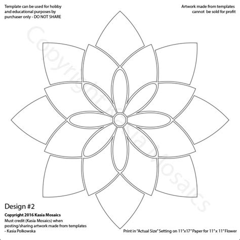 designs for mosaics templates kasia mosaics classes 187 template flower design 2