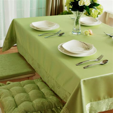 fashion brief green rustic waterproof table cloth