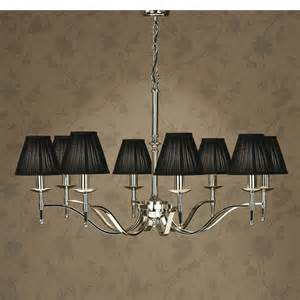 Black Nickel Chandelier Stanford Nickel 8 Light Chandelier Black Shades New Classics Interiors 1900 Lighting The