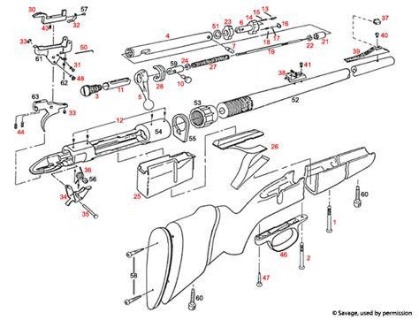 savage model 110 parts diagram 110 111 112 112bt top loading top supplier