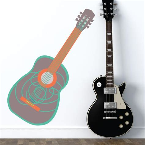 guitar wall stickers guitar wall decal eco wall decals