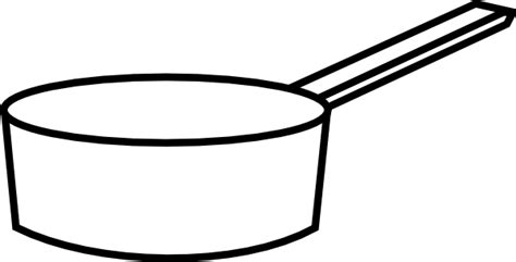 Pan Outline For L by Sauce Pan Clip At Clker Vector Clip Royalty Free Domain