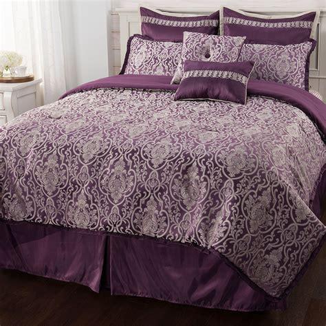 Paula Deen Bedding Sets Paula Deen Home Quot Ellis Square Quot Jacquard 8 Comforter Set King Purple New