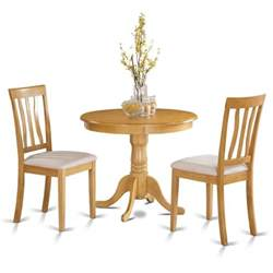 oak small kitchen table plus 2 chairs 3 dining set