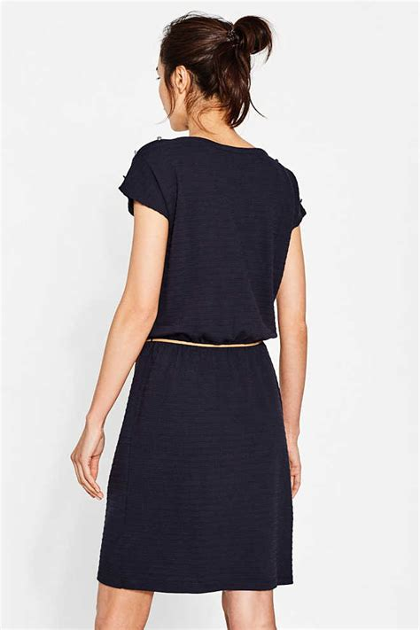 Ll Dress Fara Navy esprit stretch jersey dress with a belt at our shop