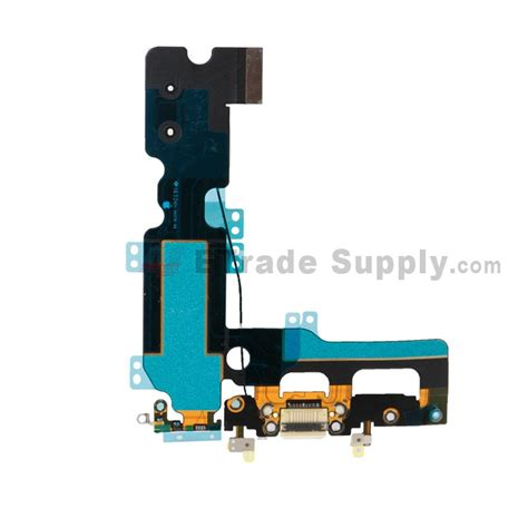 apple iphone 7 plus charging port flex cable ribbon white etrade supply