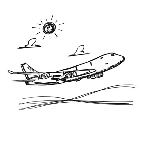 Doodle Plane Vector Free