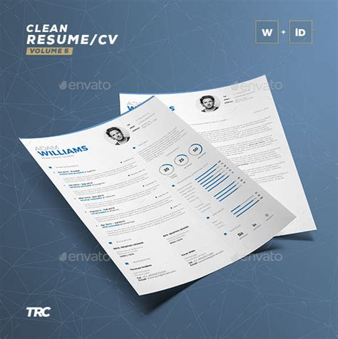 3 Cv Resume Indesign Templates Clean by 60 Awesome Resume Cv Templates 2018 Word Indesign Psd