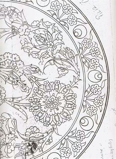 pattern in drawing definition desen 1 iznik pinterest