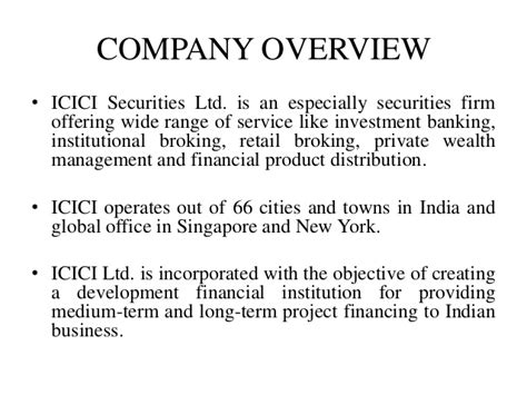 overview of icici bank icici sec