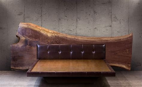 Black Walnut Bookcase by Sentient Live Edge Bed Sentient Made In Brooklyn