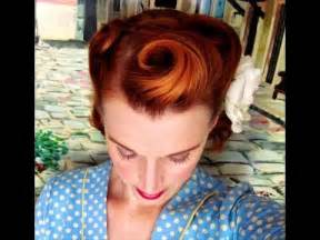 1940s bandana hairstyles victory rolls on short bobbed hair 1940 s reverse