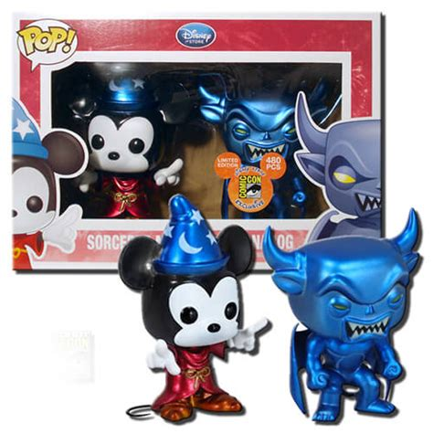 Funko Pop Mickey Mouse funko sorcerer mickey chernabog metallic pop vinyl pop in a box uk