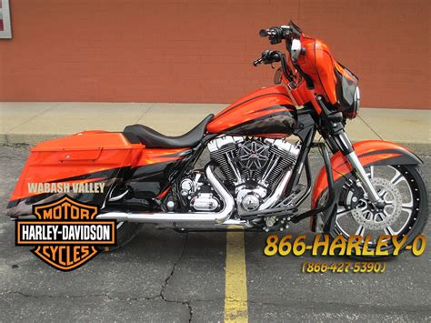 2010 harley davidson 174 flhx glide 174 custom paint orange indianapolis indiana 356263