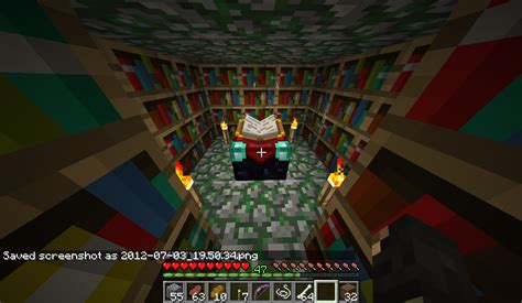 Minecraft Enchantment Table Bookshelves Bookshelves Have No Effect On Enchantment Table Legacy