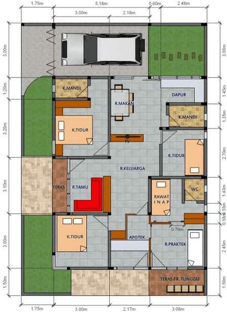 contoh gambar denah rumah minimalis  kamar tidur   disain rumah kita