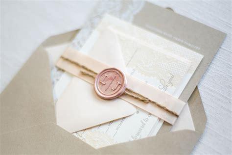wax paper wedding invitations lace and kraft paper wedding invitations