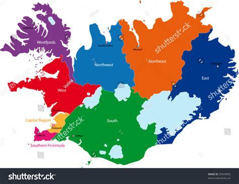 iceland map vector island kartenrand