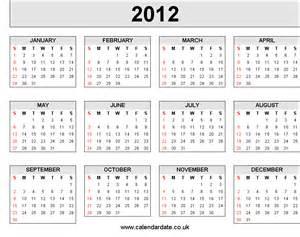 calendar template 2012 2012 calendar 4 x 3