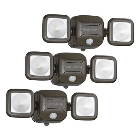 wireless led outdoor flood lights mr beams wireless 140 degree bronze motion sensing outdoor