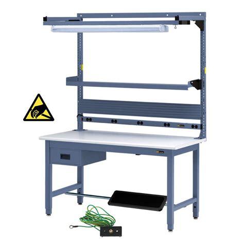 iac benches iac workbench w 6 drawer footrest bin rail tool