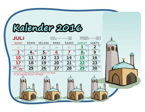 Kalender Meja Hijriyah Plus kalender 2016 meja saku masjid kartun lengkapmasbadar