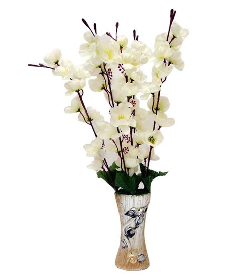 White Artificial Flowers In Vase by Flower N Decor White Beautiful Artificial Flowers In Vase