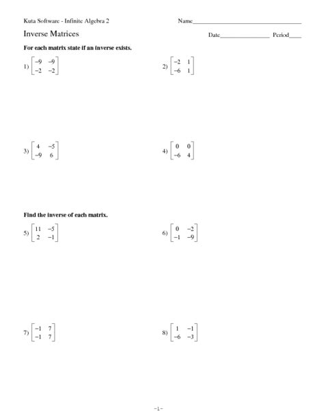 Matrices Worksheets by Printables Matrices Worksheets Ronleyba Worksheets