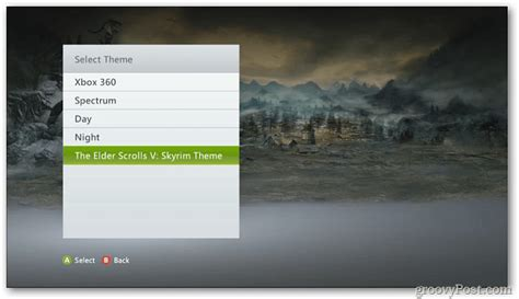 changer themes xbox 360 xbox 360 change the default dashboard theme
