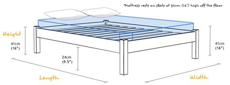 Platform Bed Measurements For Size Bed Frame